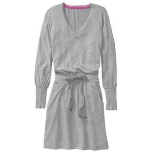 ATHLETA gray Layover sweatshirt dress XS